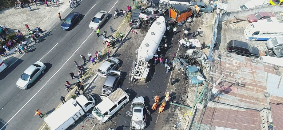 accidente en ruta interamericana