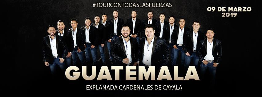 Concierto de la Banda MS en Guatemala