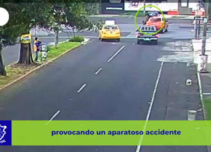 Accidente motocicleta grabado en video