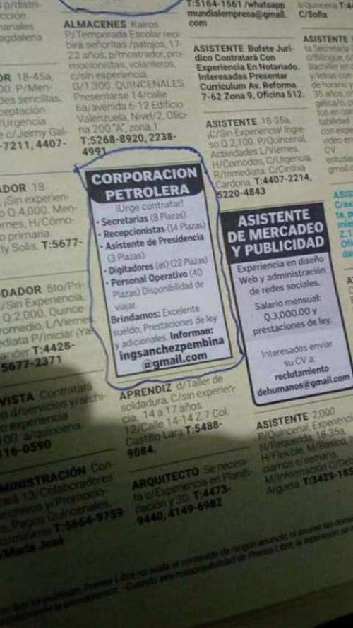 Personas fueron estafadas por supuesta empresa petrolera en Guatemala