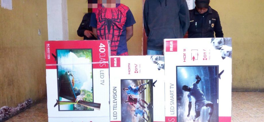Capturados por robo a comercio de electrodomésticos