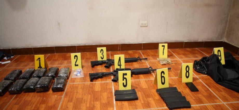 Fusiles incautados en San José Pinula
