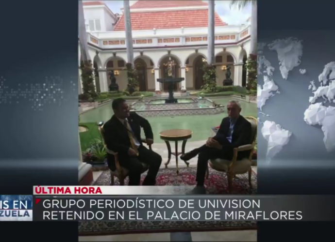 Retienen a periodista de UNIVISIÓN Jorge Ramos en Palacio de Miraflores en Venezuela