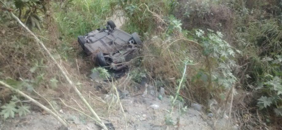 Vehículo cae a barranco en ruta al pacífico, Guatemala
