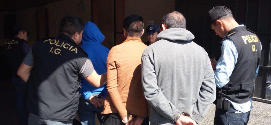 PNC capturados estructura criminal de narcotráfico