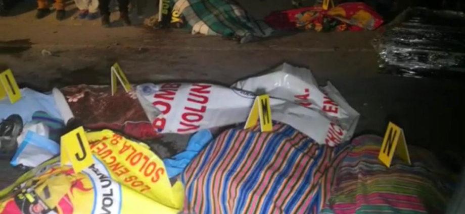 Trailer arrolló a varias personas en Nahulá Sololá
