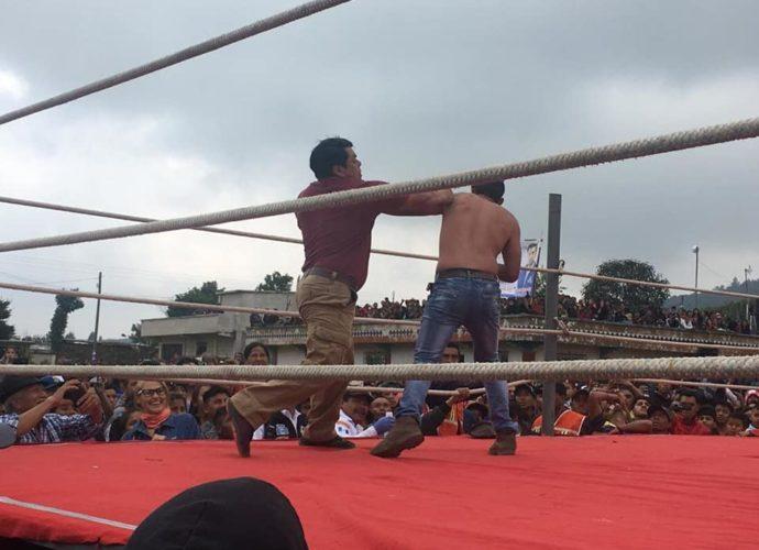 pelea de chivarreto en Totonicapán