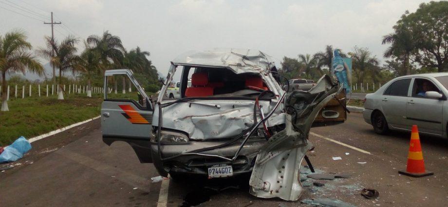 Accidente en autopista de Palin Escuintla