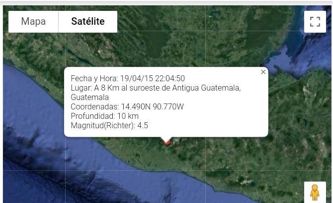 sismo sensible en guatemala