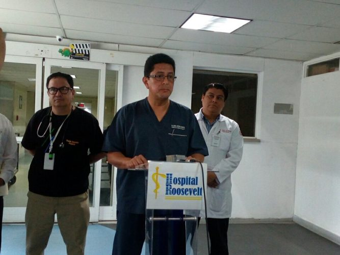Director del hospital roosevelt Marco Barrientos