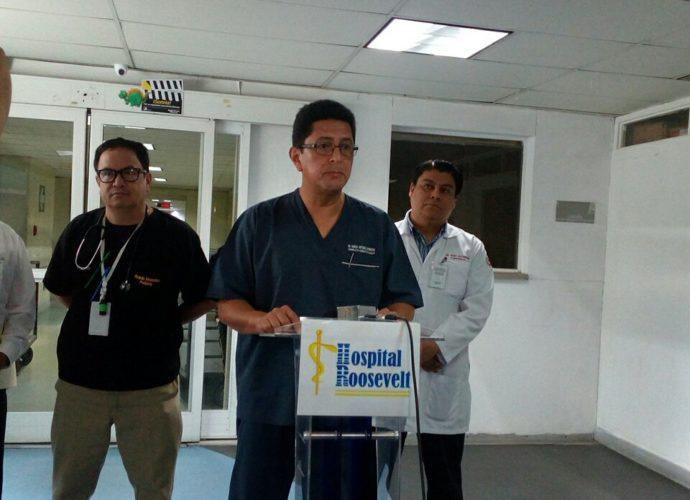 Director del hospital roosevelt Marco Barrientos
