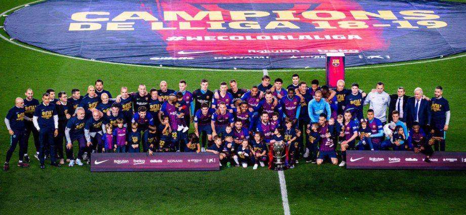 Barcelona campeón de la liga 2018-2019