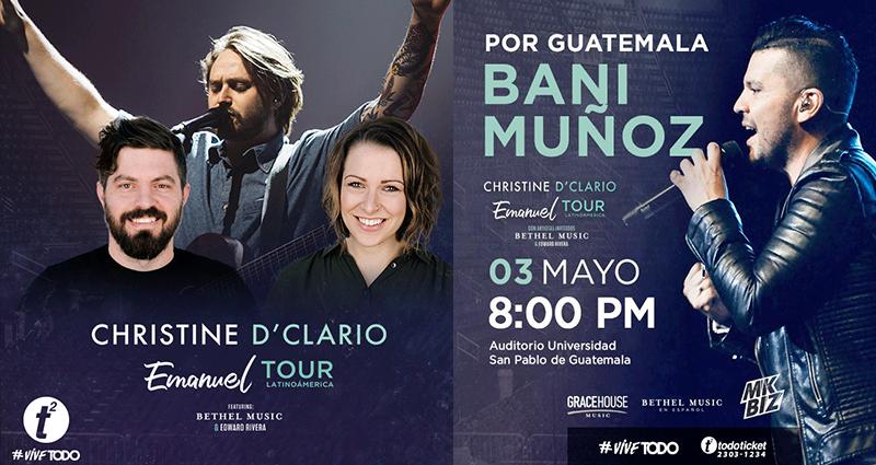 Concierto Christine D'Clario en Guatemala