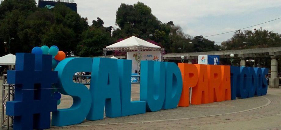 """realizaron la Feria de Salud con el lema """"Salud Universal para todos y todas"""" en conmemoración al día mundial de la Salud."""