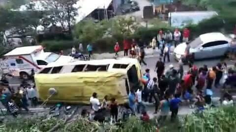 Accidente en Bajada El Tablón Villa Canales