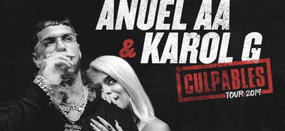 concierto de Anuel y Karol G en Guatemala