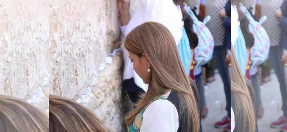 primera dama de Guatemala visitó el muro de los lamentos