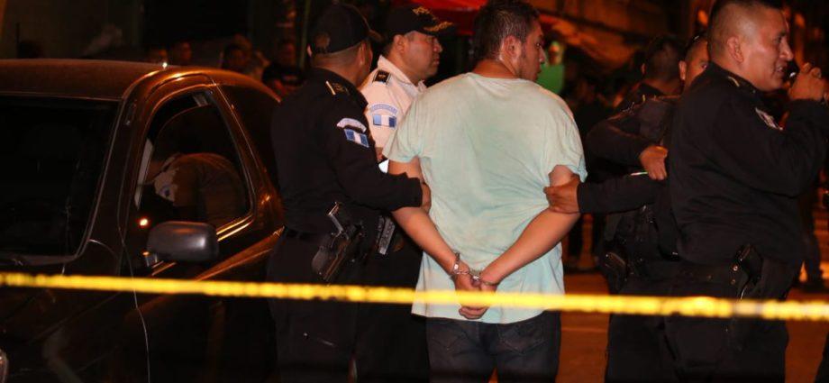 pandillero capturado tras dispararle a dos agentes de la pnc
