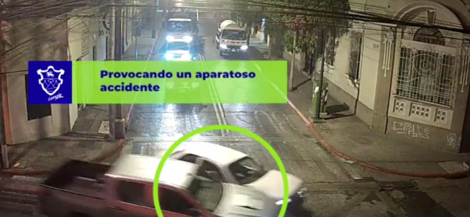 accidente de tránsito en zona 1