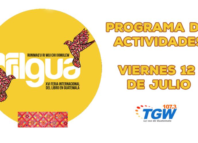 programa de actividades viernes 12 de julioFilgua 2019