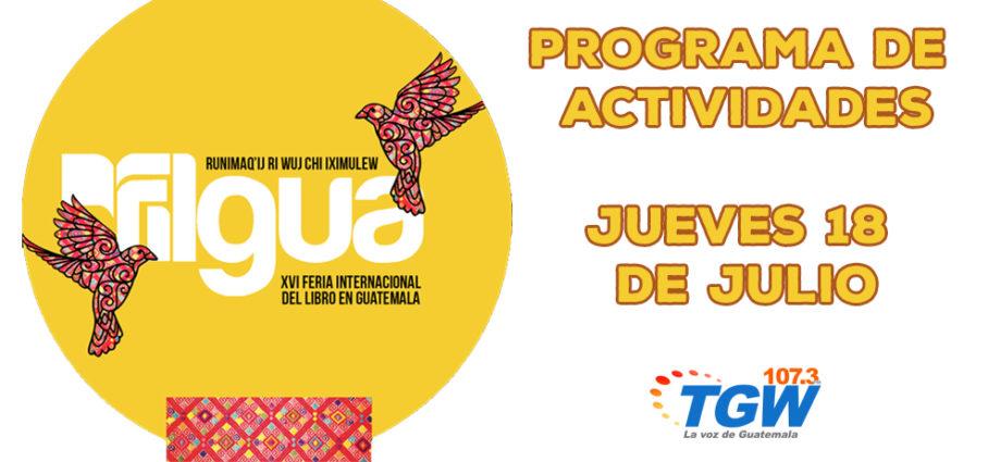Programa jueves 18 de julio