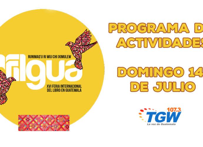 Programa Domingo 14 de julio Filgua 2019