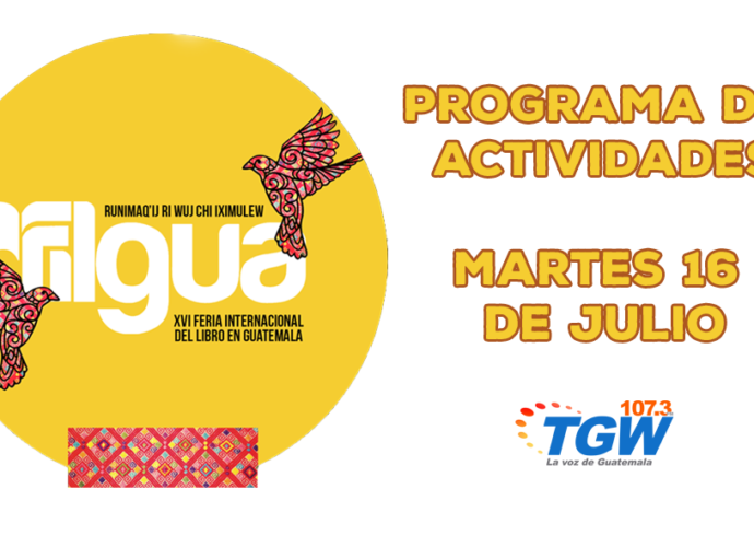 Programa de actividades martes 16 de julio