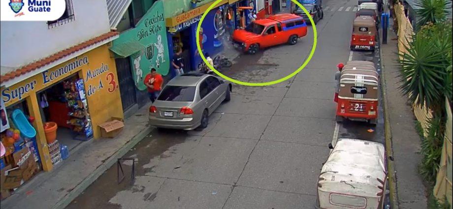 Accidente de tránsito en zona 18