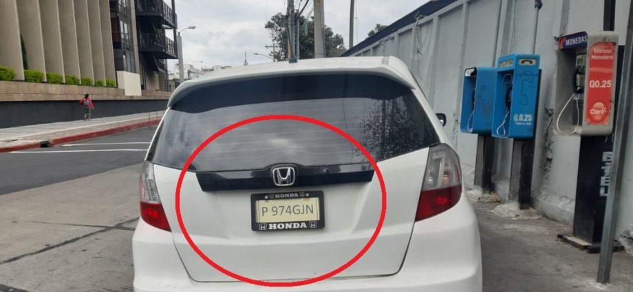capturado con vehículo robado